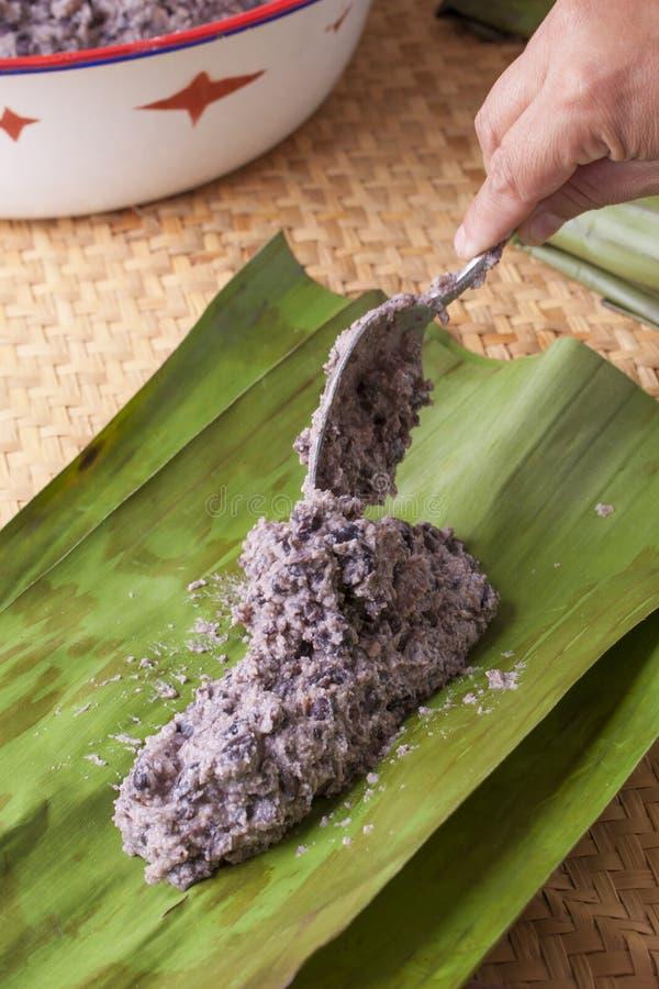 Robić tamales obraz stock