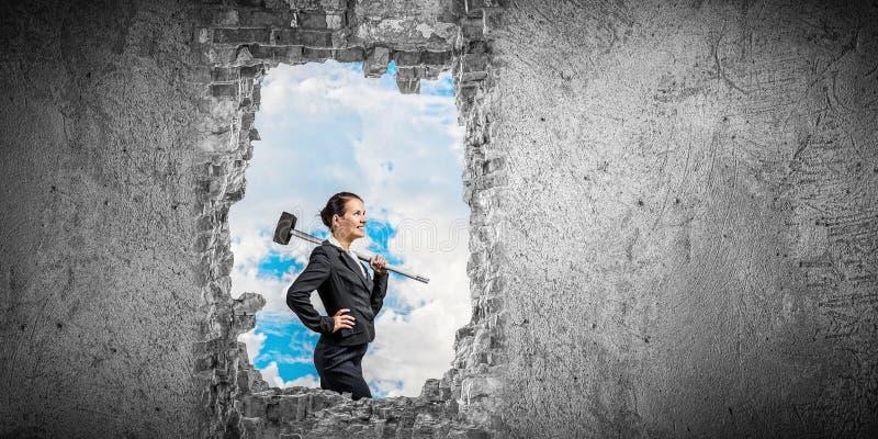 Robić twój sposobowi w biznesie Mieszani środki obraz stock