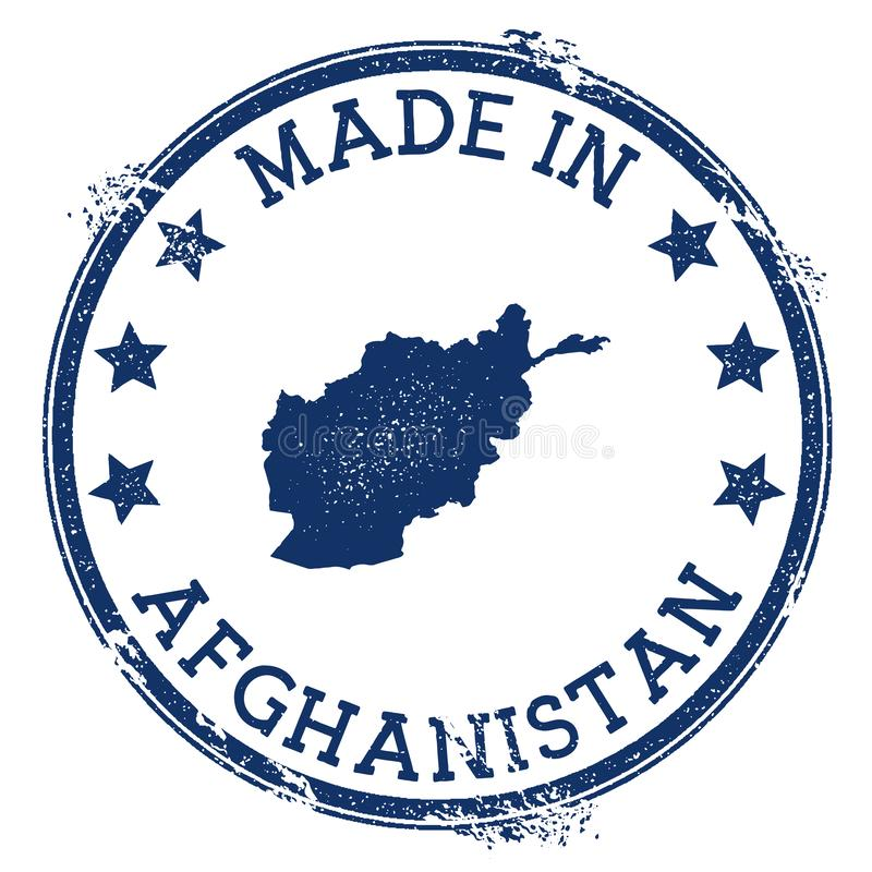 robić w Afganistan znaczku ilustracja wektor