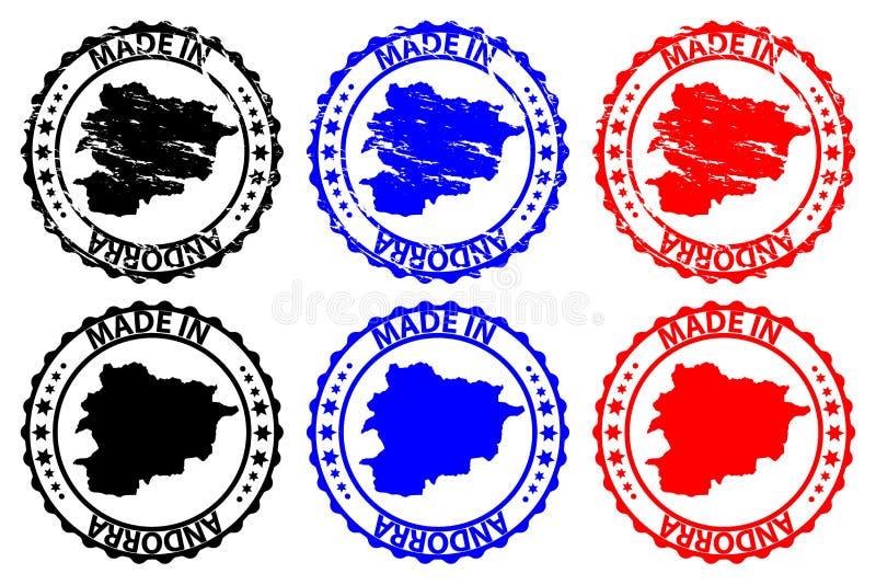 Robić w Andorra pieczątce royalty ilustracja