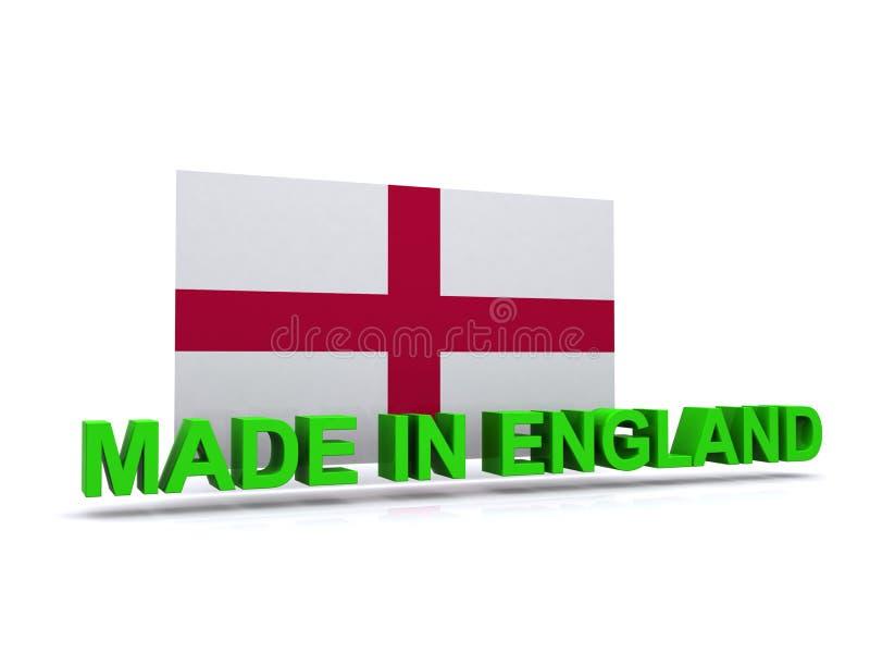 Robić w Anglia znaku z flaga ilustracja wektor