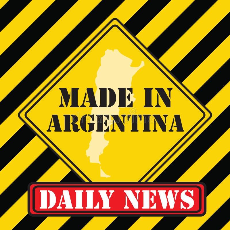 Robić w Argentyna ilustracja wektor