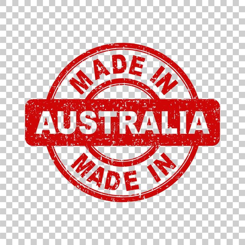 Robić w Australia czerwieni znaczku Wektorowa ilustracja na bac ilustracji