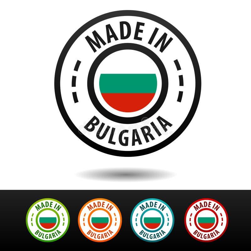 Robić w Bułgaria odznakach z flaga Płaski Eps10 wektor ilustracja wektor