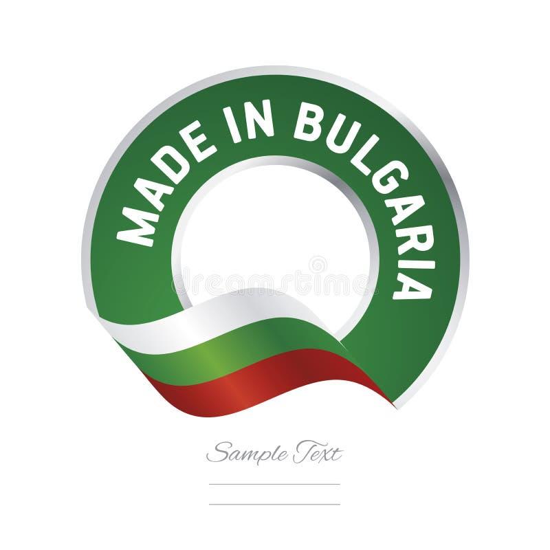 Robić w Bułgaria zielonego koloru etykietki guzika chorągwianym sztandarze royalty ilustracja