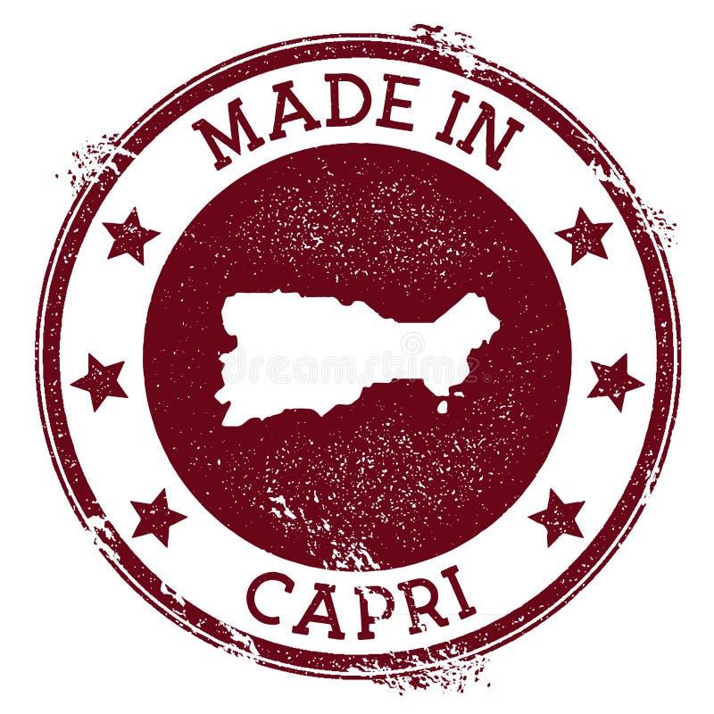 Robić w Capri znaczku ilustracji