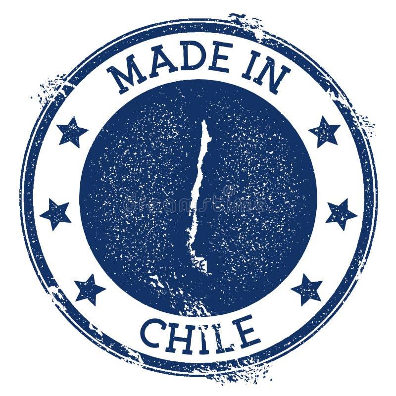robić w Chile znaczku ilustracji