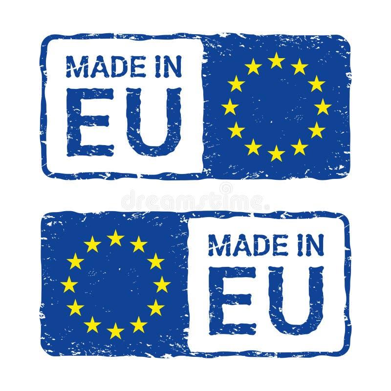 Robić w Europejskim zjednoczeniu, UE wektorowy listowy znaczek ilustracja wektor
