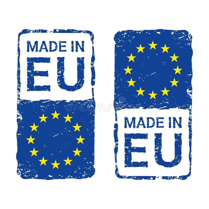 Robić w Europejskim zjednoczeniu, UE wektorowy listowy znaczek royalty ilustracja