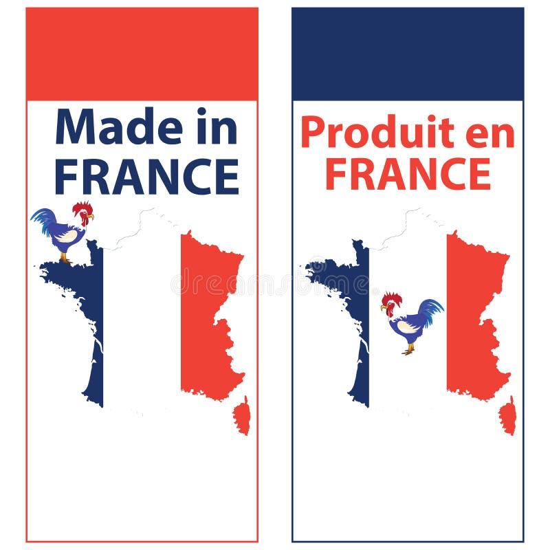 Robić w Francja pisać w Angielskim i Francuskim royalty ilustracja