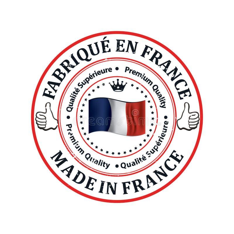 Robić w Francja, premii ilość - etykietka w francuskim języku ilustracja wektor