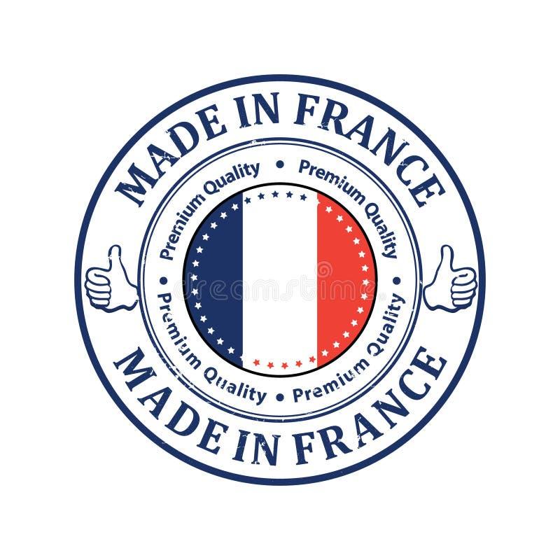 Robić w Francja, premii ilości/- grunge printable etykietka ilustracja wektor