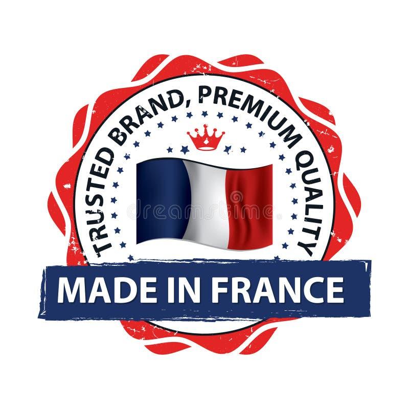 Robić w Francja, Ufający gatunek premii ilości printable sztandar, majcher,/ ilustracji