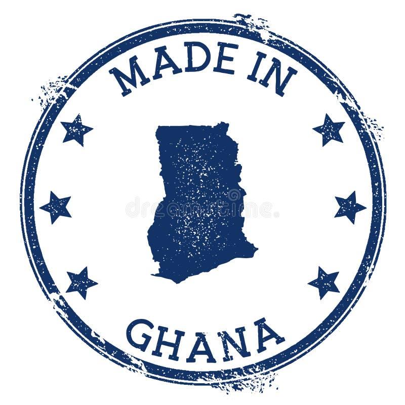 Robić w Ghana znaczku ilustracji