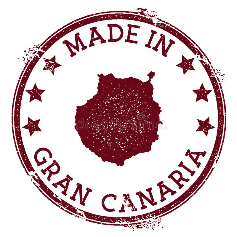 Robić w Gran Canaria znaczku royalty ilustracja