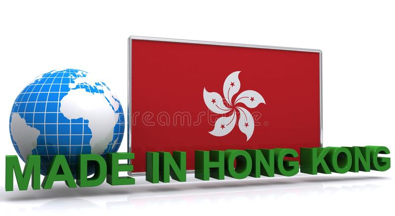 Robić w Hong Kong znaku ilustracji