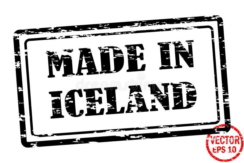 Robić w Iceland - szablon grunged czarnego kwadrata znaczek dla biznesu odizolowywającego na białym tle ilustracja wektor
