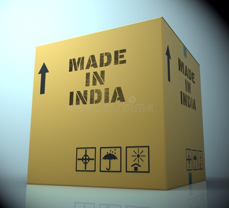 Robić W India Wskazuje Azja Importowego 3d rendering ilustracja wektor