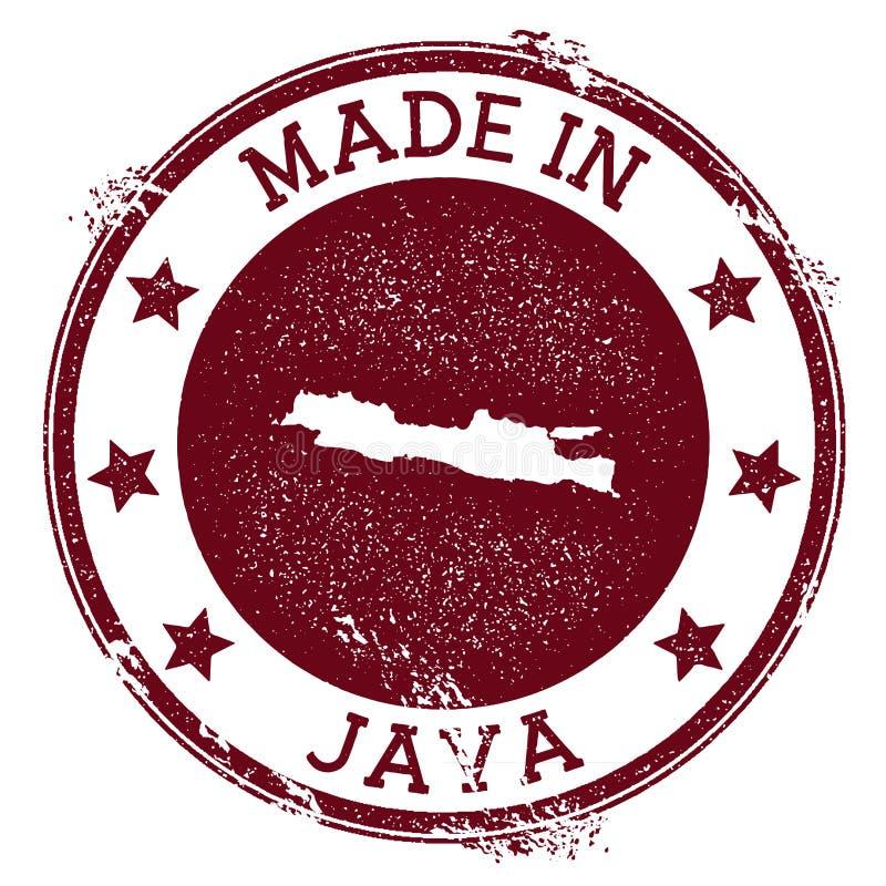 Robić w Jawa znaczku ilustracja wektor
