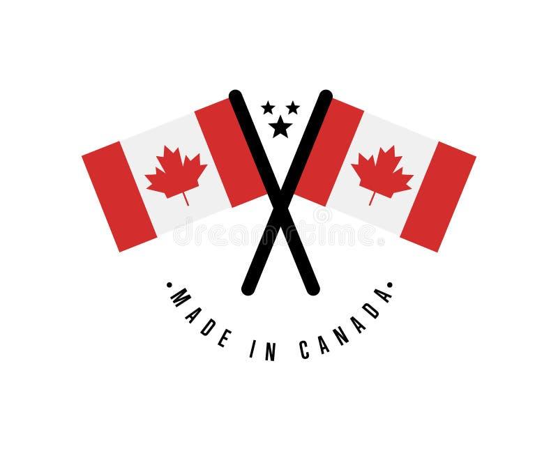 Robić w Kanada odizolowywał świadectwo element ilustracja wektor