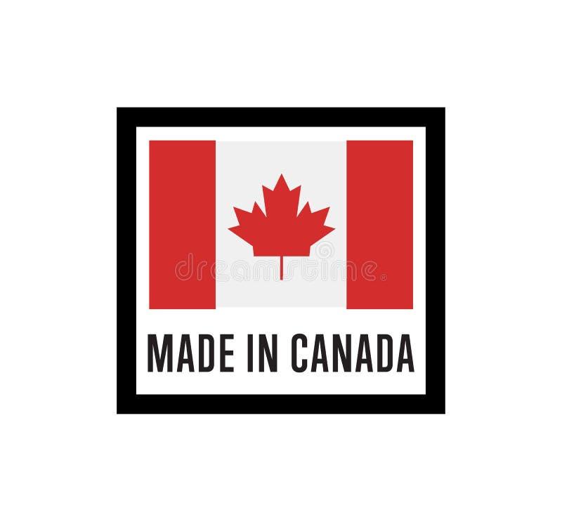 Robić w Kanada odizolowywał etykietkę dla produktów ilustracja wektor