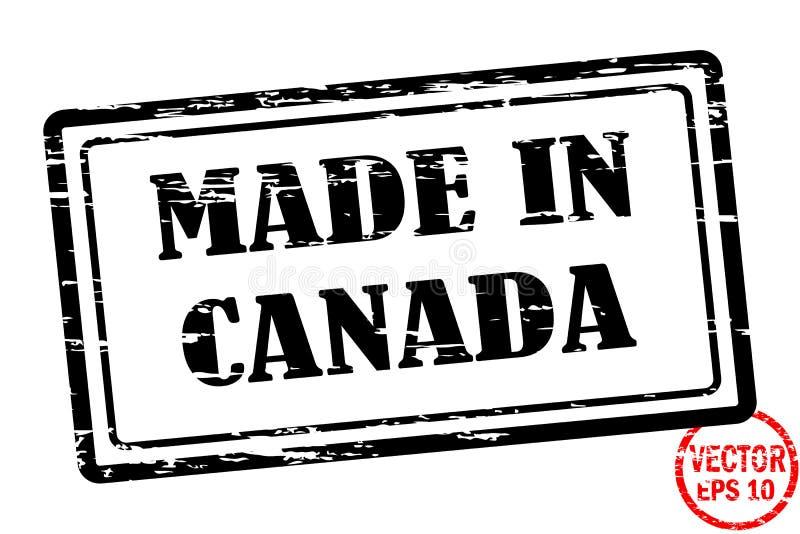 Robić w Kanada - szablon grunged czarnego kwadrata znaczek dla biznesu odizolowywającego na białym tle ilustracja wektor