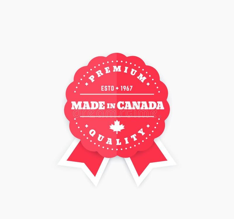 Robić w Kanada, wektorowa odznaka royalty ilustracja