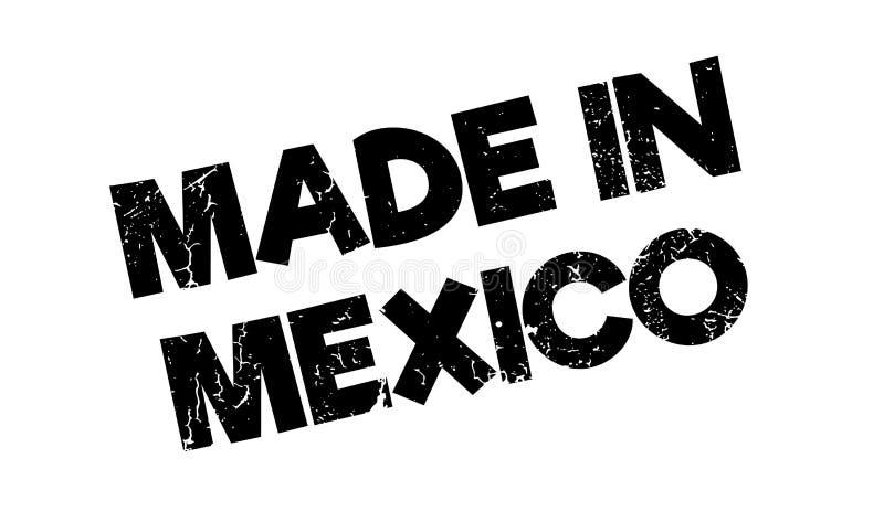 Robić W Meksyk pieczątce royalty ilustracja