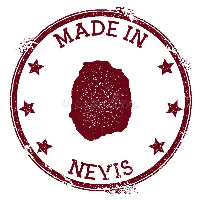 Robić w Nevis znaczku ilustracja wektor