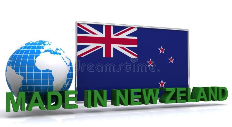 Robić w Nowa Zelandia znaku royalty ilustracja