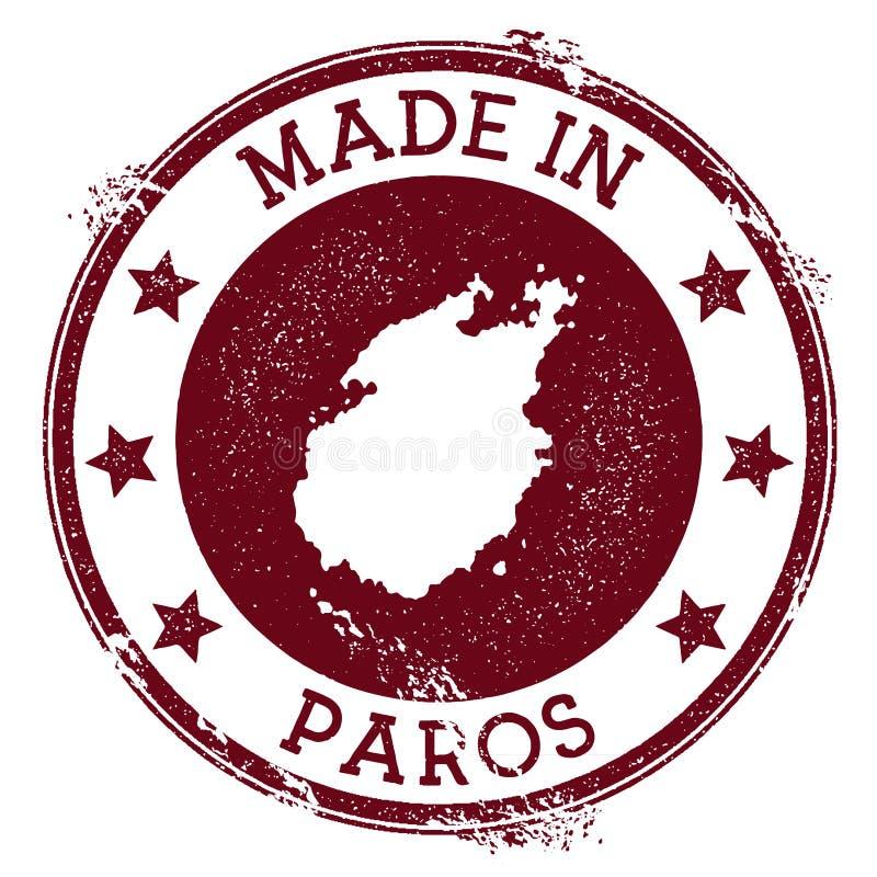 Robić w Paros znaczku ilustracji