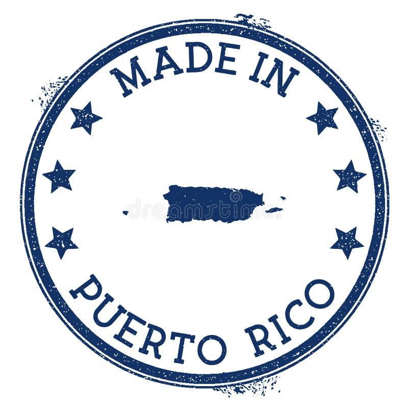 Robić w Puerto Rico znaczku royalty ilustracja