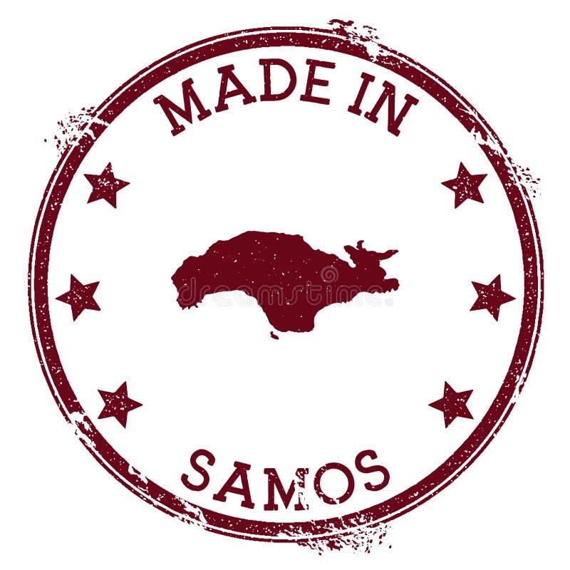 Robić w Samos znaczku ilustracja wektor