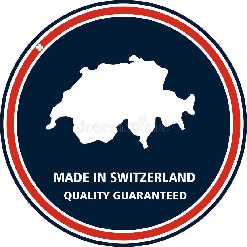 Robić w Szwajcaria ilości znaczku również zwrócić corel ilustracji wektora royalty ilustracja