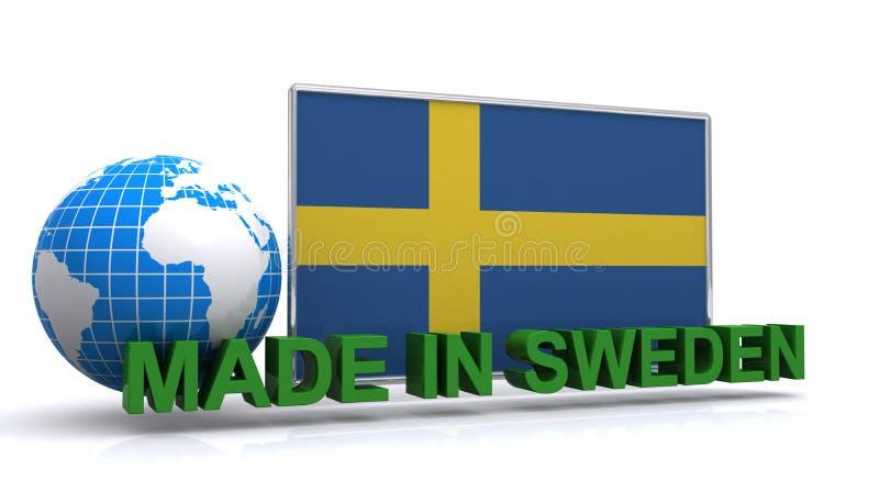 Robić w Szwecja znaku ilustracja wektor