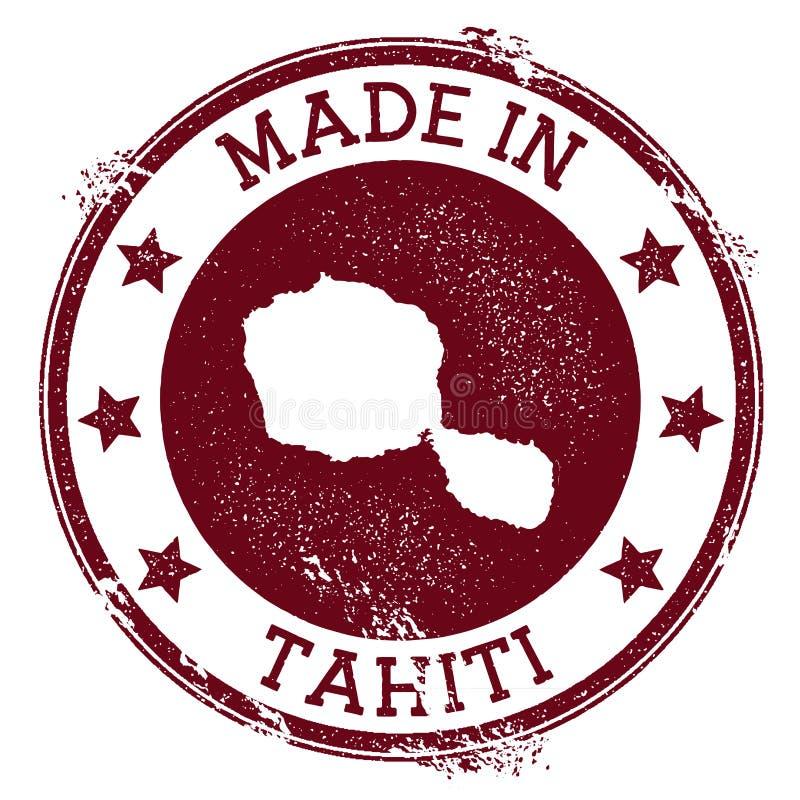 Robić w Tahiti znaczku ilustracji