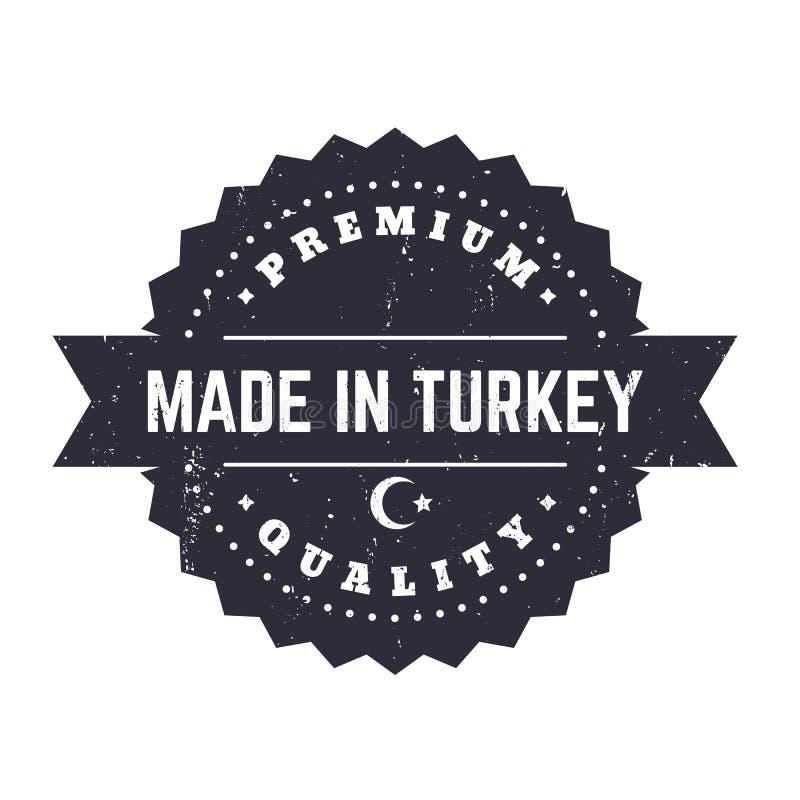 Robić w Turcja, rocznik odznaka royalty ilustracja