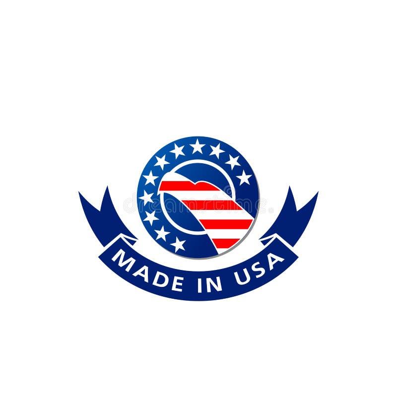 Robić w usa orła i flagi amerykańskiej wektoru ikonie ilustracji