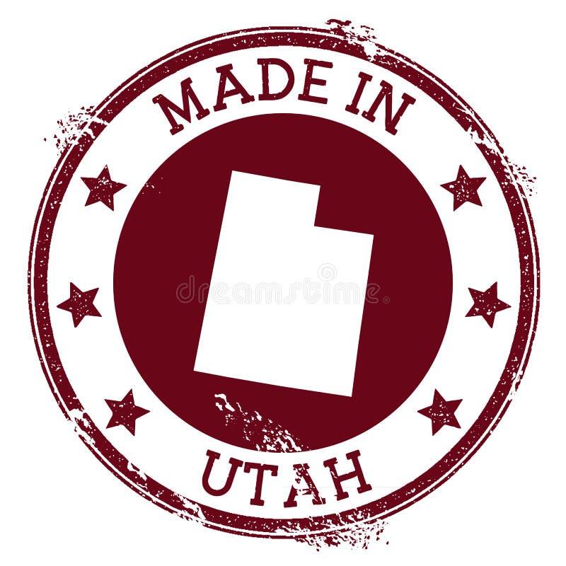 Robić w Utah znaczku ilustracji