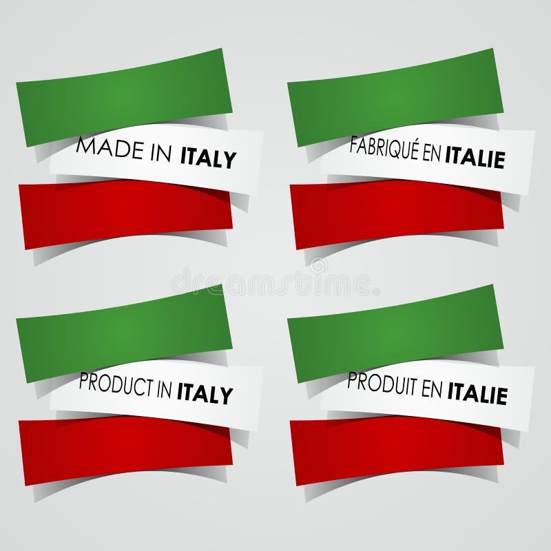 Robić w Włochy odznakach ilustracja wektor