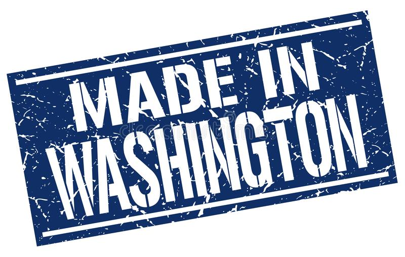 Robić w Waszyngton znaczku ilustracji