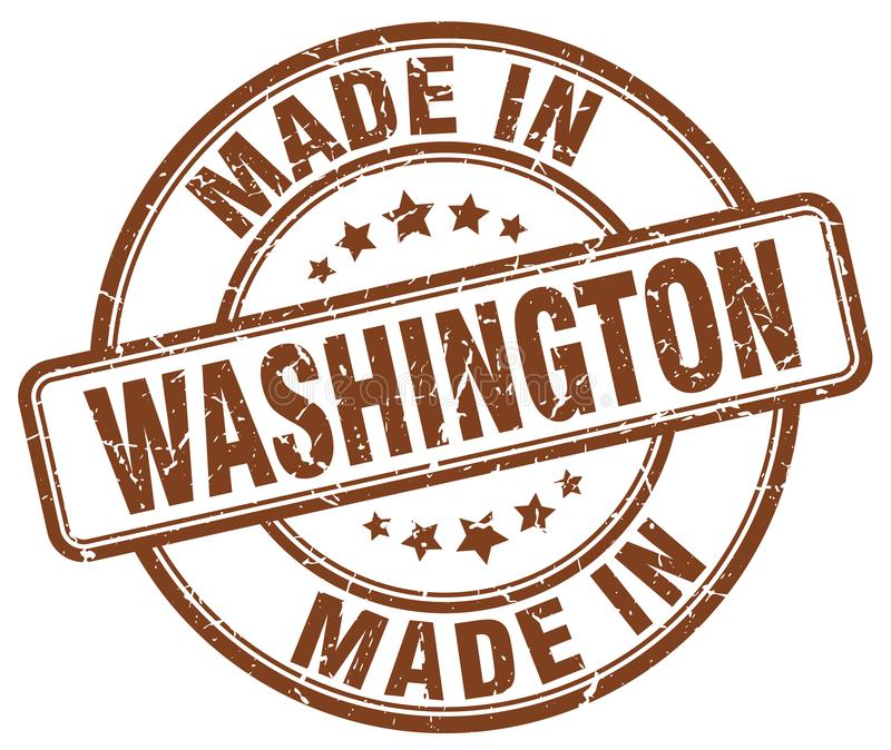 Robić w Waszyngton znaczku royalty ilustracja