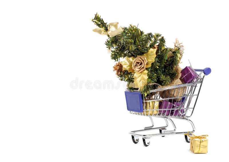 Robić zakupy dla choinki obrazy royalty free