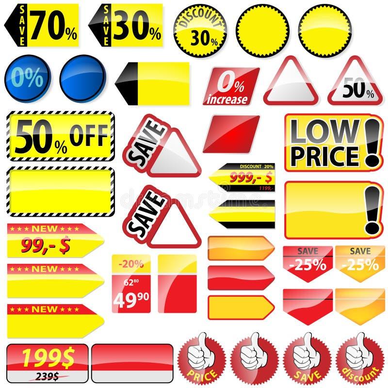 Robić zakupy etykietki ilustracji