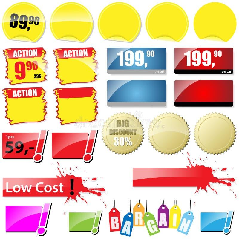 Robić zakupy etykietki royalty ilustracja