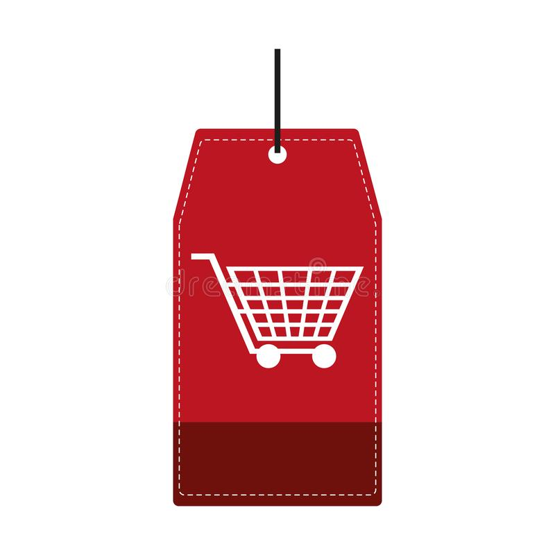 Robić zakupy etykietki etykietkę ilustracja wektor