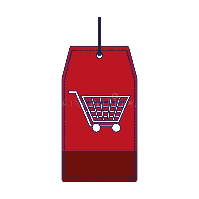 Robić zakupy etykietki etykietki niebieskie linie royalty ilustracja
