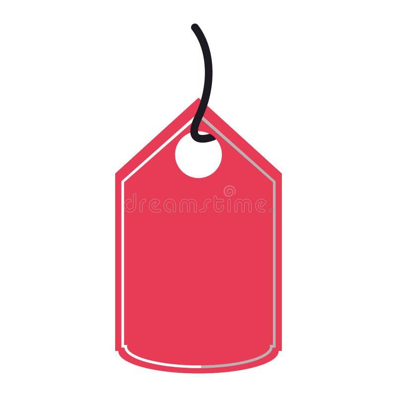 Robić zakupy etykietki etykietki odosobnionego symbol royalty ilustracja