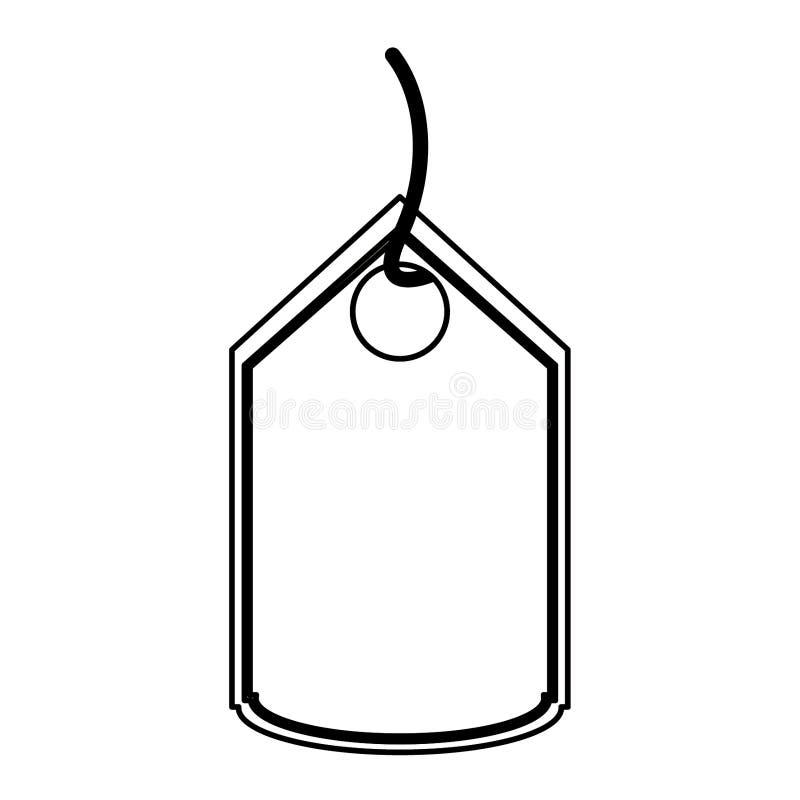 Robić zakupy etykietki etykietki odosobnionego symbol w czarny i biały ilustracji