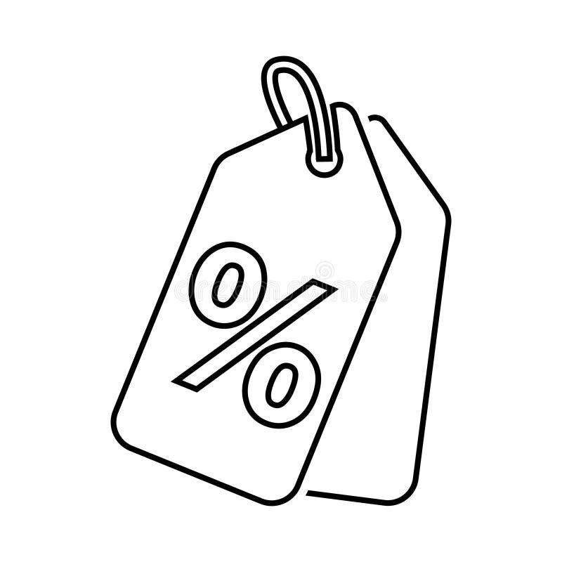 Robić zakupy etykietki prostą wektorową ikonę Oferty specjalnej szyldowa ilustracja Dyskontowy talonu symbol ilustracji